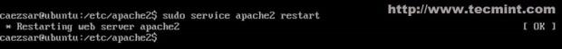 Restart Apache Service