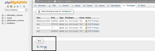 Add New MySQL User