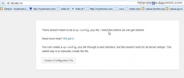 Create WP Configuration