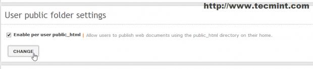 Enable User Public Html