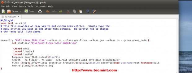 Verify Kali Linux Boot Kernel Parameters