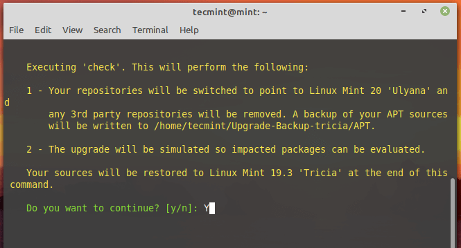 Check Linux Mint Upgrades