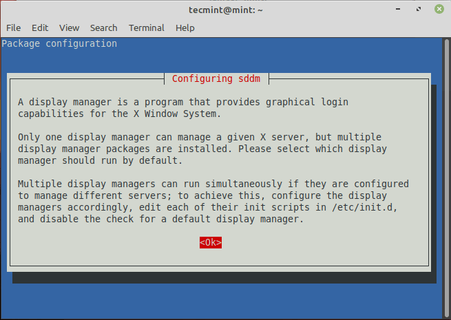 Configure Linux Mint Display Manager