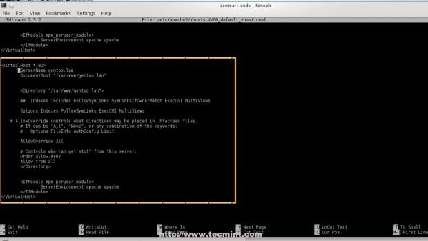 Create Apache Virtual Host