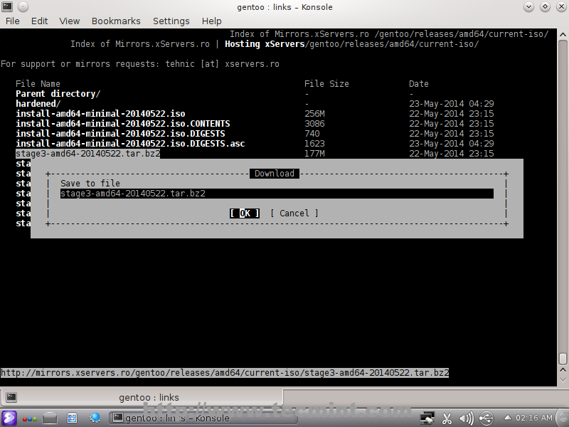 Gentoo linux customized and optimized.