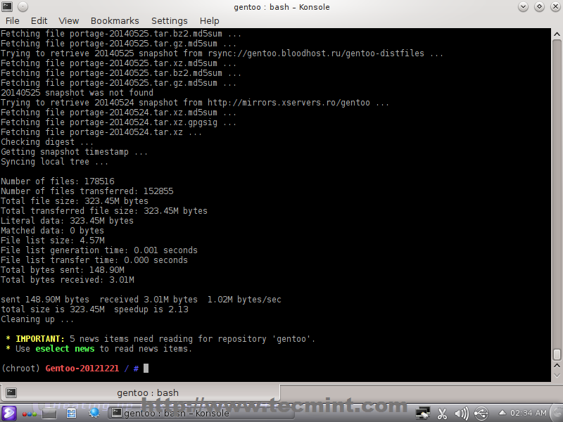 Gentoo Linux Installation Guide with Screenshots - Part 2