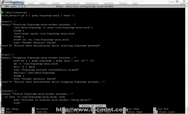 Using Unix Socket Script