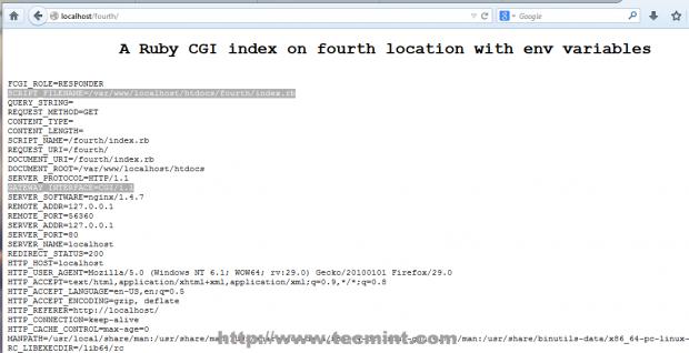 Ruby CGI Index Page