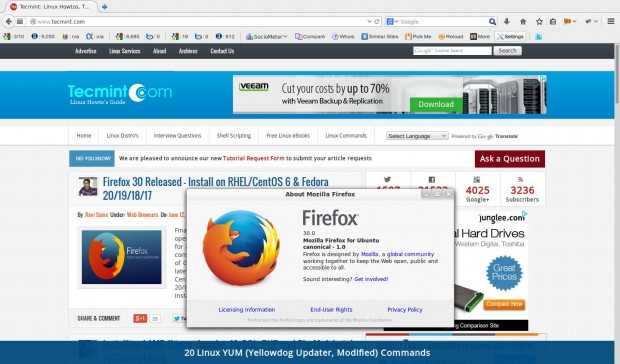 Install Firefox in Linux