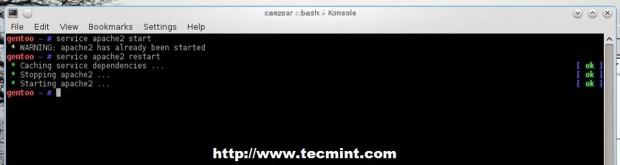 Start Apache Server