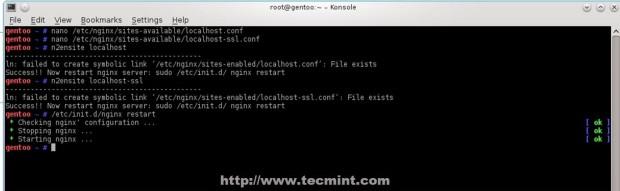Restart Nginx and PHP-FPM