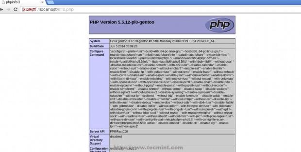 Verify PHP Configuration