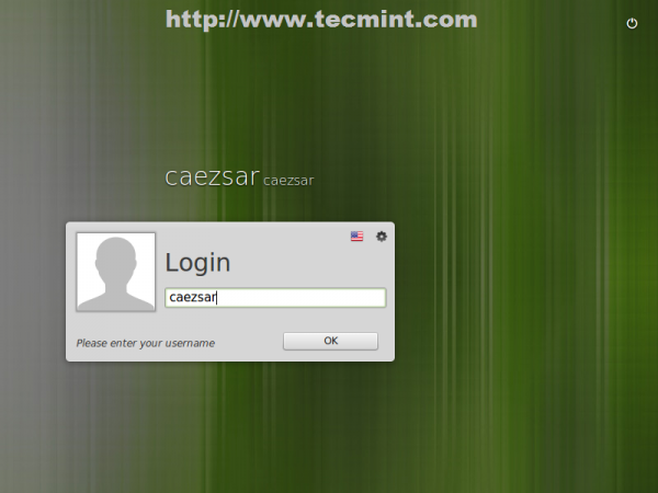 Linux Mint 17 Login Screen