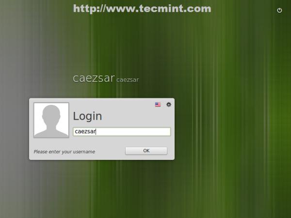 Linux Mint 17 Login Screen