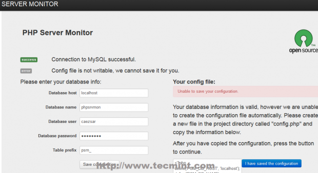 Enable Permission on Config File