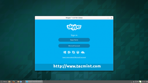 Skype 4.3 Login Screen