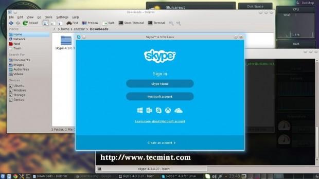 Skype 4.3 Login Screen