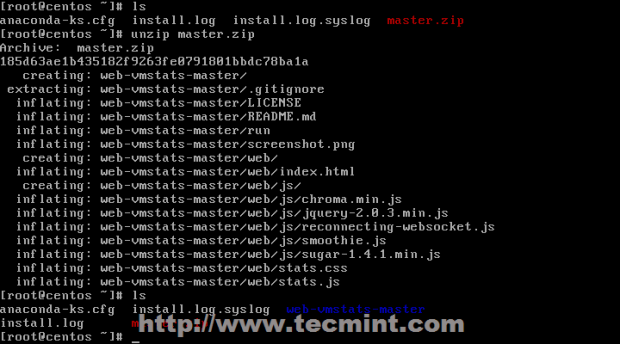 Extract Web-Vmstat Package