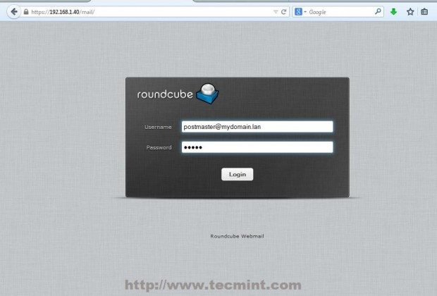 Login to Roundcube Webmail