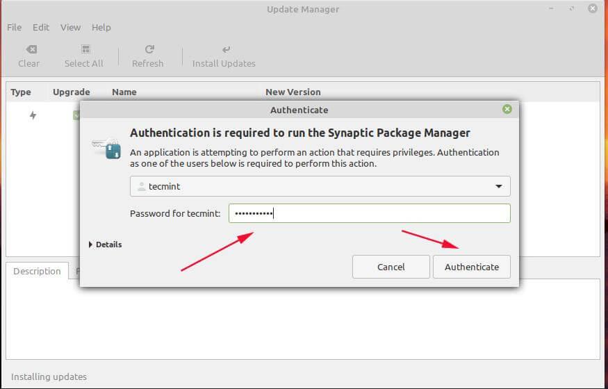 Linux Mint Authentication