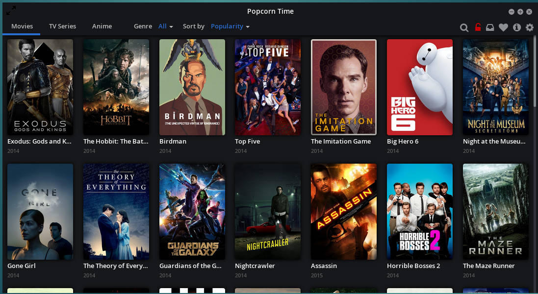Popcorn Time Movie Gallery