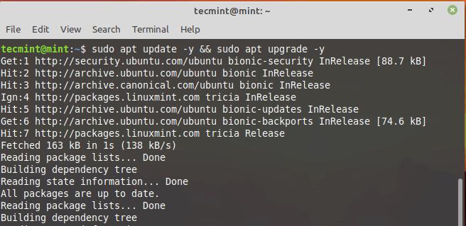 Upgrade Linux Mint