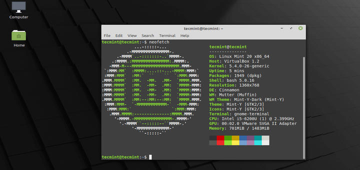 Upgrade to Linux Mint 20 Ulyana