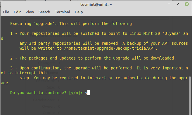 Upgrade to Linux Mint 20