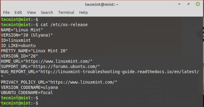 Verify Linux Mint Version