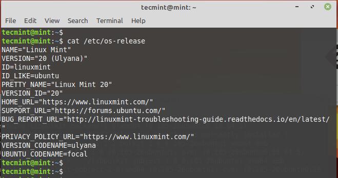 Verify Linux Mint Version