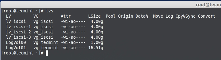 How to Create and Setup LUNs using LVM in