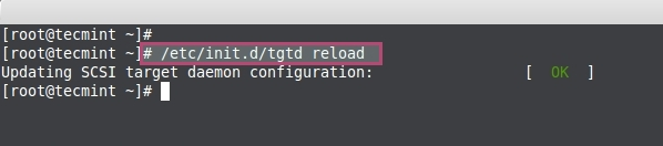 Reload Configuration