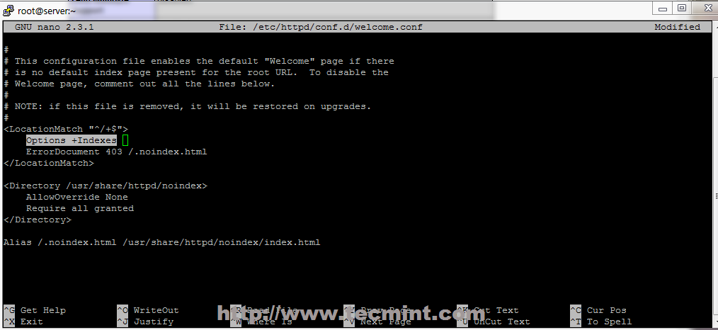 Configure httpd. Conf to add new site on apache red hat linux.