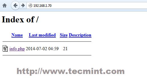 Apache Index File