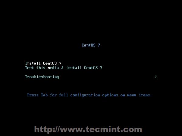 Install CentOS 7