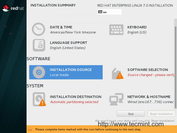 CentOS 7 Installation Sources