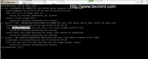 Check IP Address in CentOS