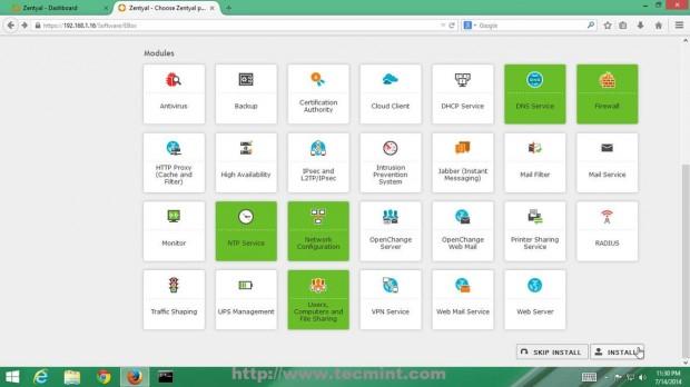 Install Zentyal Software Packages