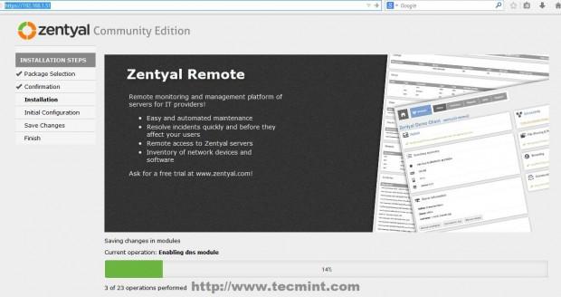 Re-Login to Zentyal Web Portal