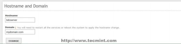 Enter Hostname and Domain