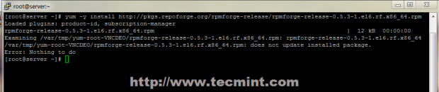 Enable RPMForge in CentOS 7