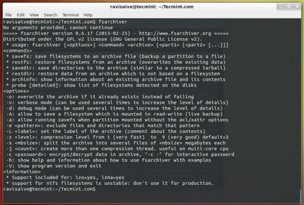 FSArchiver para Linux