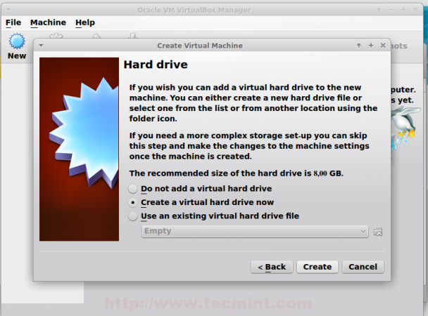 Create Virtual Hard Drive