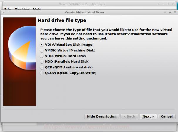 Select Hard Drive Type