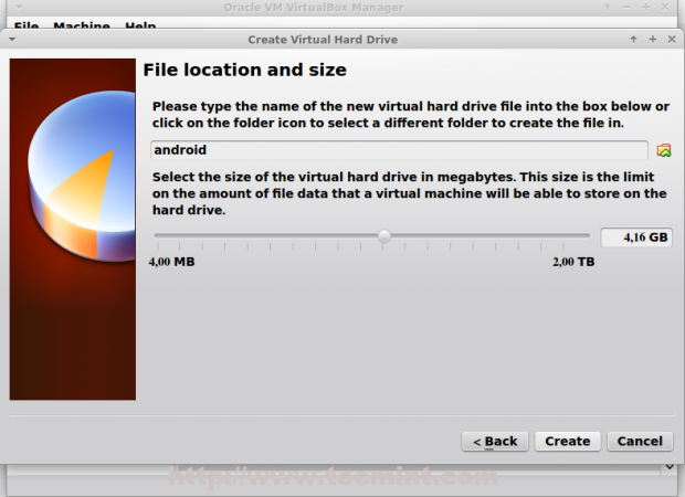 Set Size for Virtual Drive