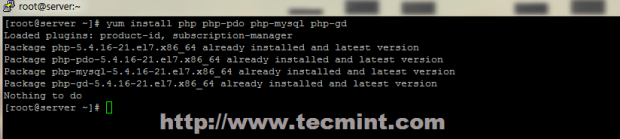 Install PHP Modules in CentOS 7