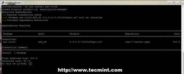 Install net-tools in Linux
