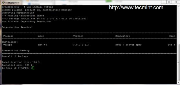 Install vsftpd in CentOS 7