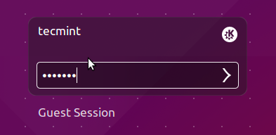 Login to KDE Plasma Desktop