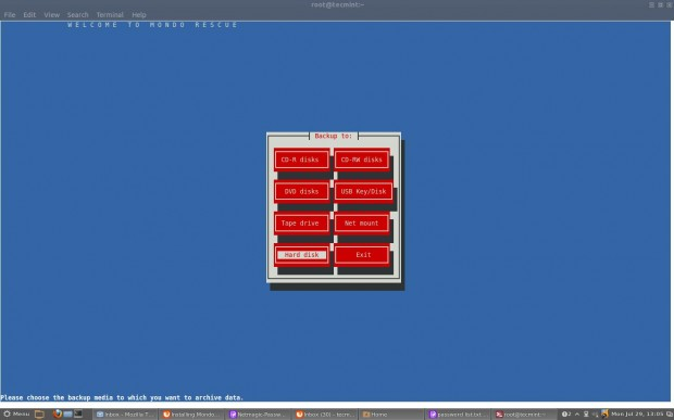 MondoRescue for Linux